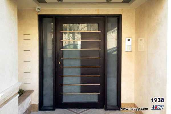 درب فلزی نفر رو بسیار شیک و به روز مناسب برای ورودی حیاط و ساختمان کد ۱۸۱