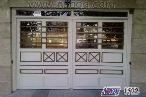 درب فلزی خیلی زیبا و شیک و ساده مناسب برای ورودی ساختمان , درب حیاط و پارکینگ کد ۲۶۲