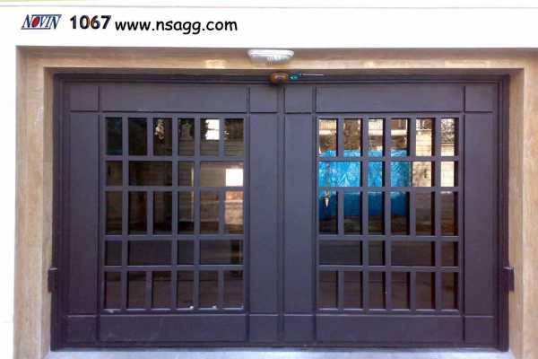 درب فلزی ساده اما شیک و به روز مناسب برای ورودی ساختمان , حیاط و پارکینگ کد ۶۷