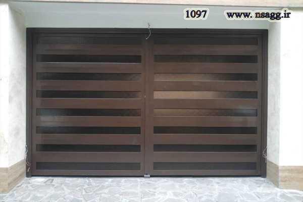 درب فلزی بسیار ساده و شیک مناسب برای ورودی ساختمان , پارکینگ و حیاط کد ۶۸