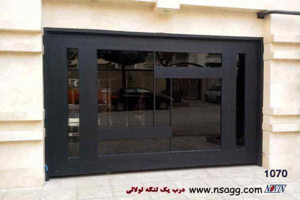 درب فلزی بسیار شیک و زیبا یک پارچه مناسب برای درب ورودی ساختمان , حیاط و پارکینگ کد ۷۵