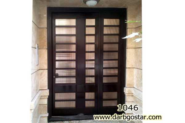 درب فلزی نفر رو بسیار شیک و زیبا مناسب برای ورودی ساختمان و حیاط کد ۷۷