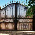 درب فلزی ورودی باغ و ویلا کد 450