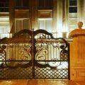 مدل بسیار شیک و به روز از درب فلزی فرفروژه مناسب برای باغ ویلا و حیاط کد 460
