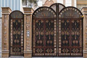 نمونه ای منحصر به فرد از درب ورودی ساختمان کد 478